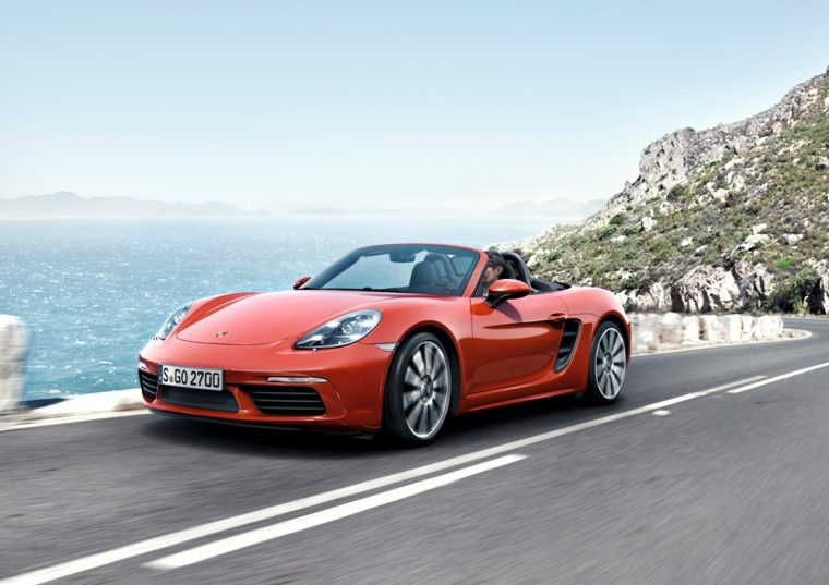 The 2017 Porsche 718 Boxster carries a starting MSRP of $56,000 and it can accelerate from 0 to 60 mph in less than five seconds