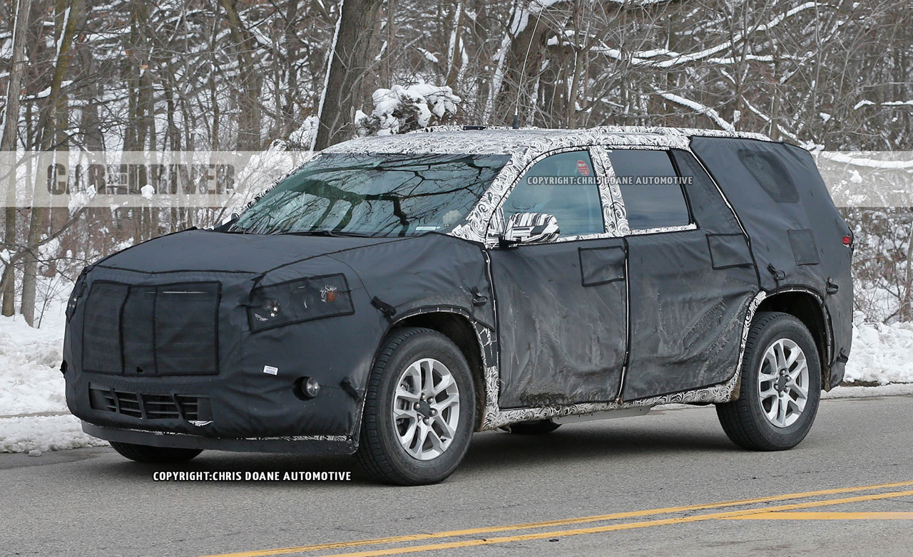 A Preview of the 2018 Chevy Traverse, Spotted Under Heavy ...