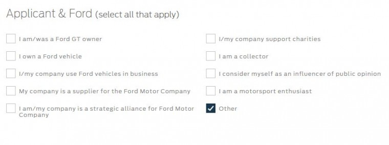 Applicant history with Ford