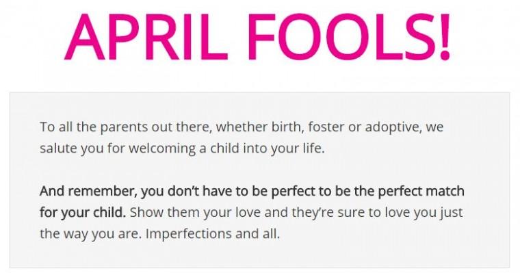 April Fools Page Kars 4 Kids