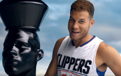 NBA player Blake Griffin stars in yet another commercial for the Kia Optima and this time he's playing an entertaining game of chest