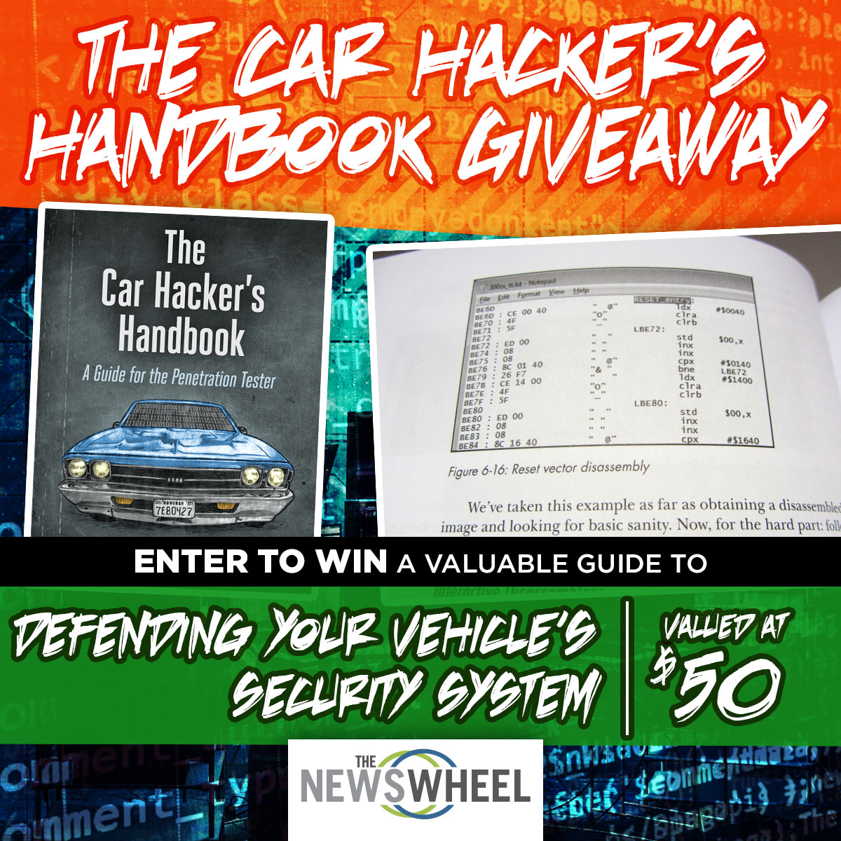 The News Wheel Car Hacker Handbook Giveaway banner