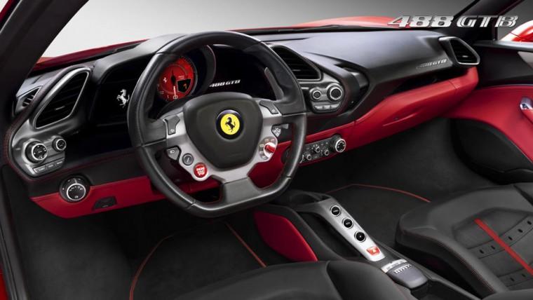 Ferrari 488 GTB Interior View