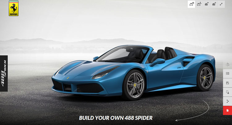 Ferrari 488 Spider Configurator. Build It!