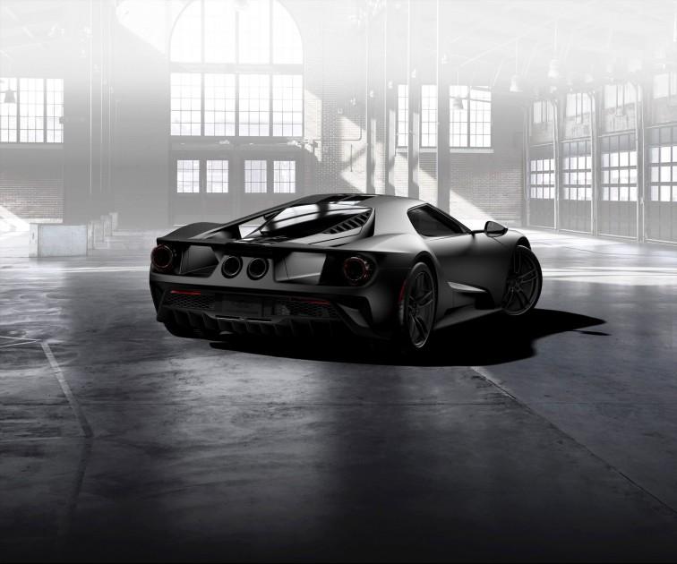 Ford GT Matte Carbon Fiber lowers back