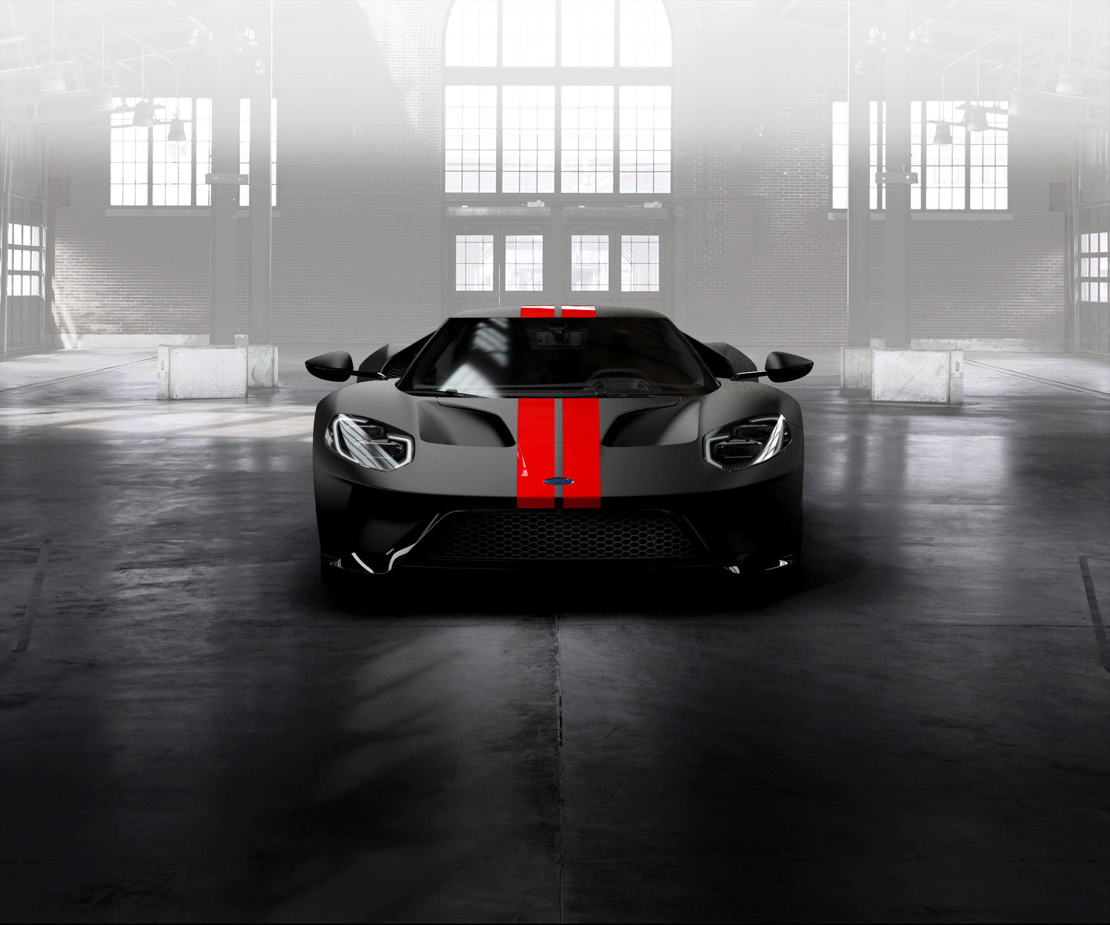 Ford Gt Race Red Stripes
