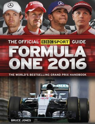 Formula One 2016 guide book cover Bruce Jones