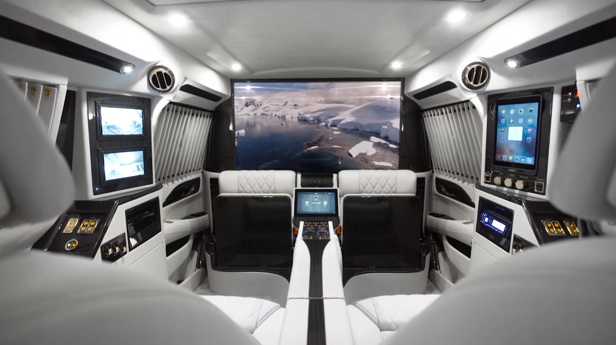 Cadillac Sky Captain Price >> Interior of the 2016 Cadillac Escalade Sky Captain Piano Edition Mobile Office | The News Wheel