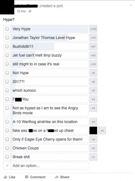 Limp Bizkit Sunoco concert hype poll