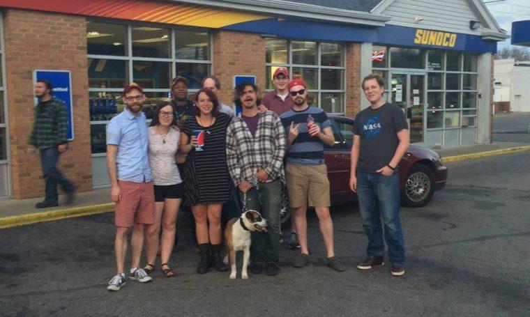 Limp Bizkit crew at the Sunoco on Wayne Avenue