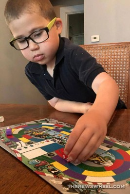 Monza children's racing board game from HAHA testing