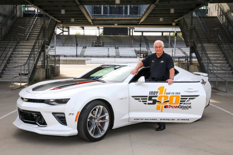 Team owner Roger Penske will drive a special-edition Chevy Camaro pace car at the 100th running of the Indianapolis 500