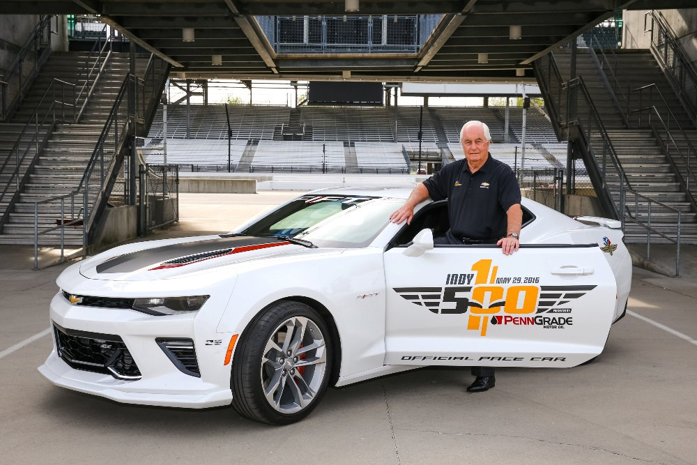 PHOTOS] Roger Penske to Drive Camaro SS Pace Car at 100th Indy 500 ...