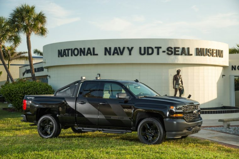 Special Operations Chevy Silverado in front of National Navy SEAL Museum