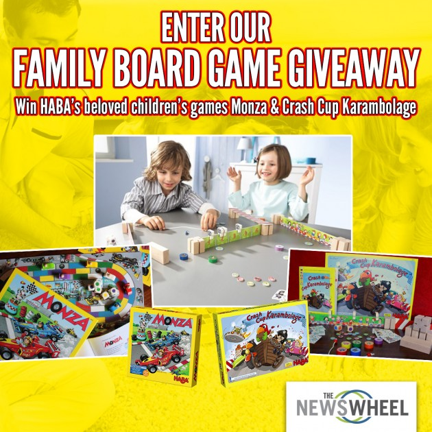 The News Wheel HABA Board Game Giveaway post