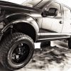 "Dwayne ""the Rock' Johnson shared a few pictures recently of his new customized Ford F-150 pickup truck"