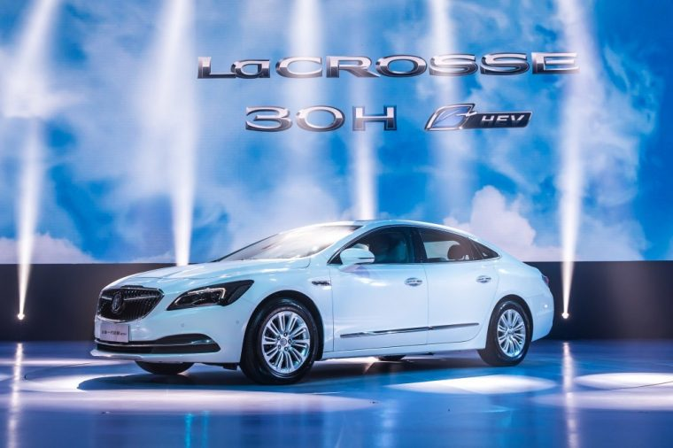 The New Buick Lacrosse Hybrid Electric Vehicle Made Its World Debut At 2016 Beijing Auto