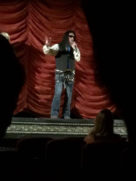 Tommy Wiseau on stage
