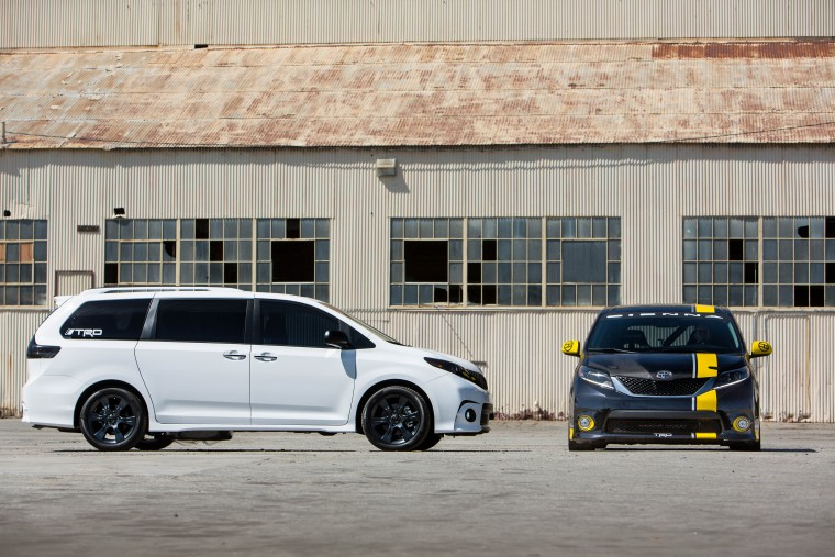The Toyota Sienna SE + and the Toyota Sienna R-Tuned concepts will compete in One Lap of America