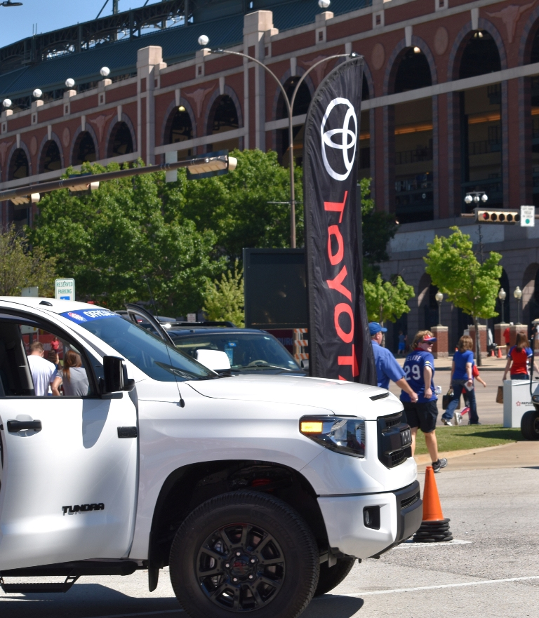 Moore Chrysler Jeep >> Toyota Enters Multi-Year Deal with Texas Rangers, Takes Over More Parking Lots | The News Wheel