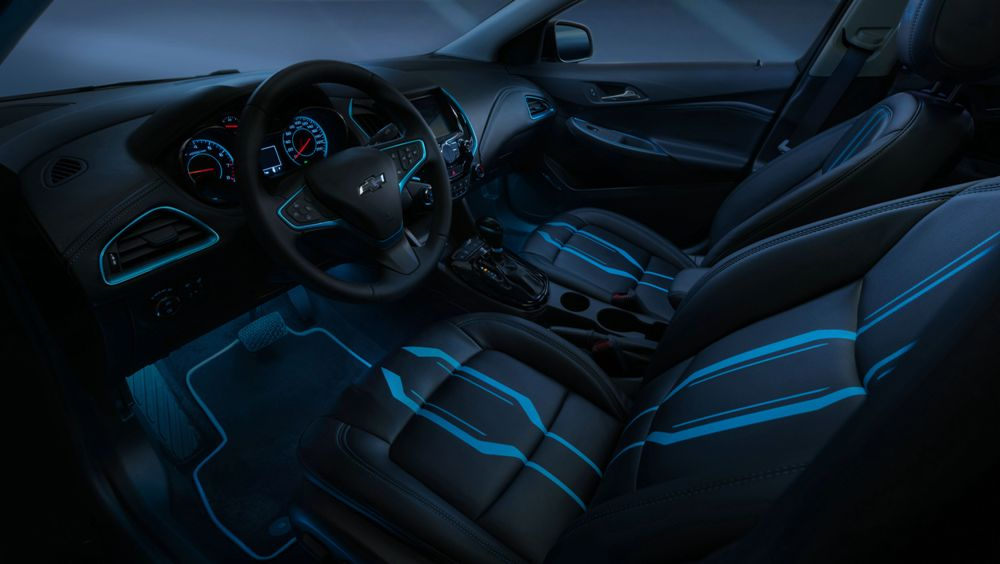 tron legacy chevy cruze show car interior the news wheel. Black Bedroom Furniture Sets. Home Design Ideas