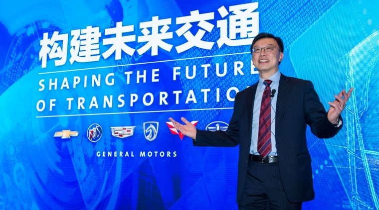 GM China President Matt Tsien during the presentation of General Motors' growth plan for China