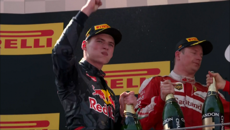 2016 Spanish Grand Prix - Verstappen Fist Pump