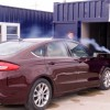 2017 Ford Fusion testing in Ford mobile aeroacoustic wind tunnel