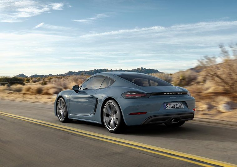 The exterior of the 2017 Porsche 718 Cayman has been updated and there will also be new engine options underneath the hood
