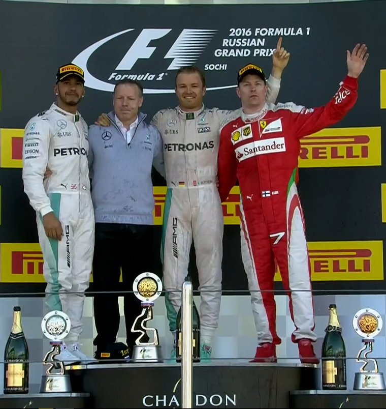 2016 Russian Grand Prix podium