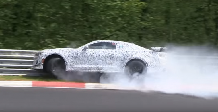 A Camaro Z/28 prototype was caught on camera colliding with the wall at Nürburgring