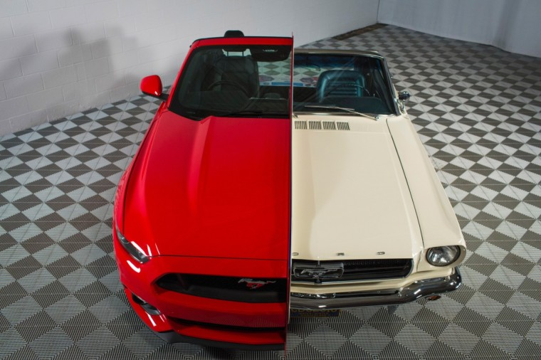 Composite 1965 and 2015 Ford Mustang at National Inventors Hall of Fame Museum (1)