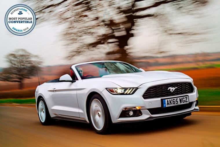 Ford Mustang has won most-popular convertible at the 2016 Honest John Awards