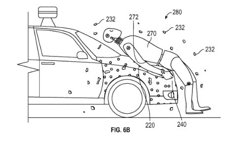 Google Patents People Catcher Glue to Stick Collision Victims to the Car to Prevent More Injury | The News Wheel