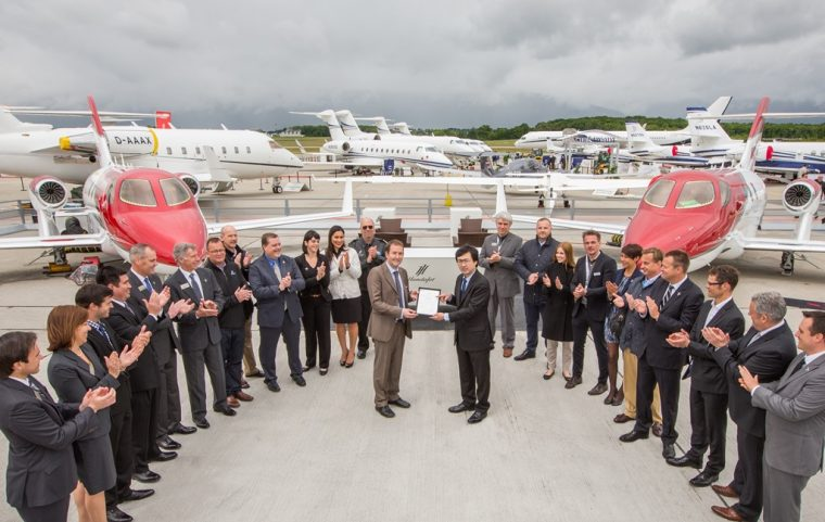 The HondaJet received a type certificate from the European Aviation Safety Agency (EASA)
