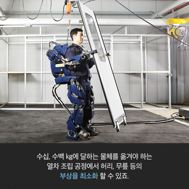 Hyundai wearable robotic exoskeleton suit operations