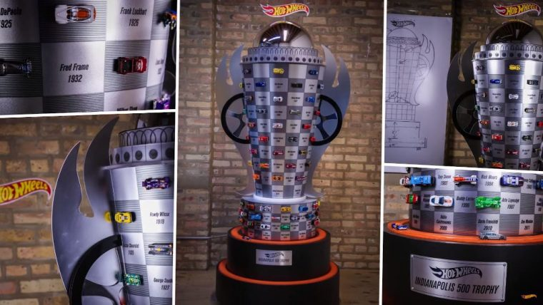 Making of Hot Wheels trophy for 100th Indy 500