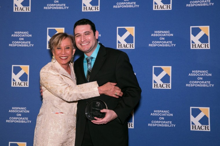 Young Hispanic Corporate Achiever and GM assosciate Tony Argote