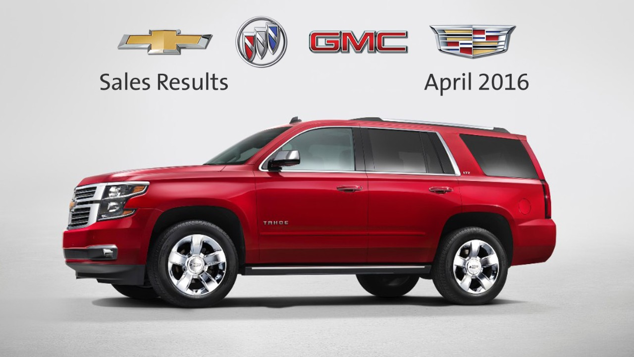 Gm canada reports 26 596 vehicle deliveries in april the for General motors annual report 2016