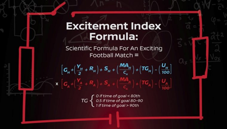 Excitement Index Formula