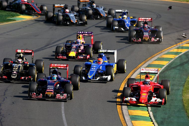 2015 F1 Cars in Melbourne