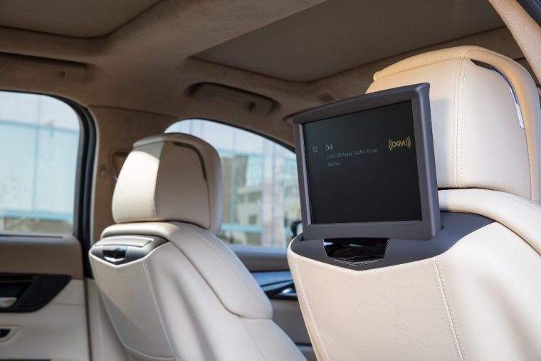 The optional Rear Seat Infotainment System for the Cadillac CT6 could offer entertainment to backseat occupants during longer commutes