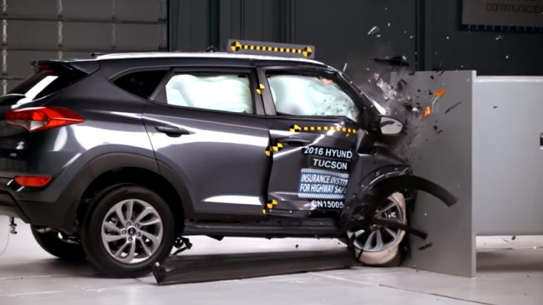 "The 2016 Hyundai Tucson was the only small SUV tested by the IIHS to earn a ""Good"" rating for passenger safety in the challenging small-overlap test"