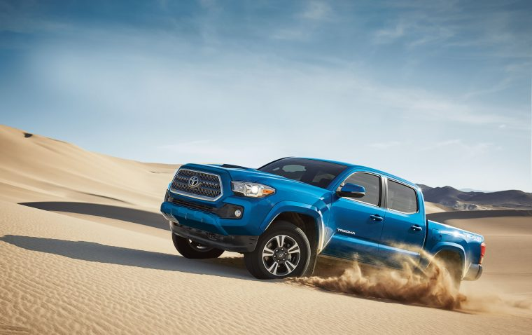2016 Toyota Tacoma in the Sand