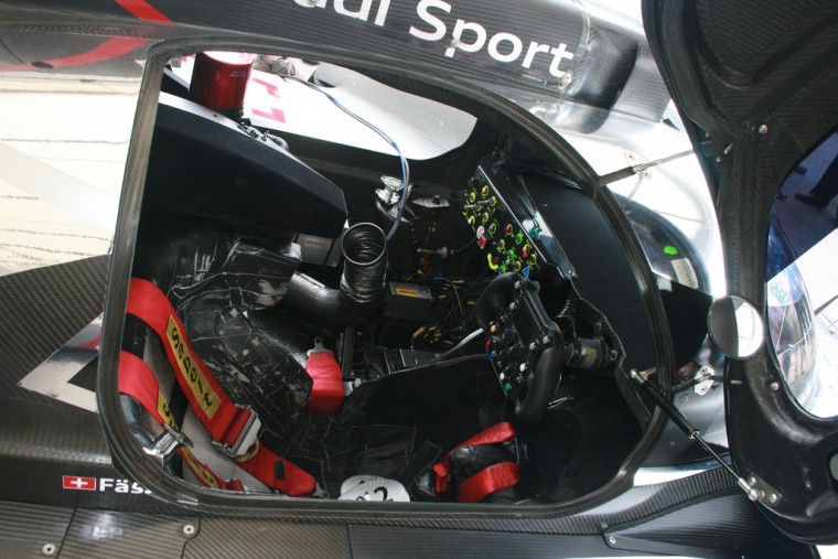 Cockpit of an Audi R18 TDI