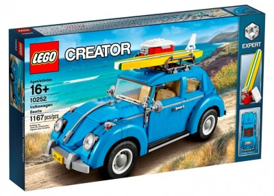 Blue VW Beetle Lego Set 10252 box front
