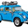 Blue VW Beetle Lego car set 10252 built