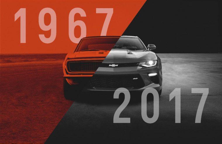 Camaro 50th Anniversary 1967 Chevy Camaro to 2017 Camaro