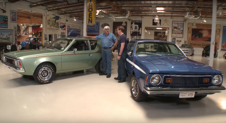 Jeff Dunham and his 1972 and 1973 AMC Gremlin on Jay Leno's Garage