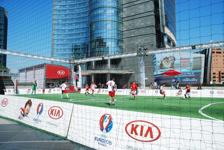 Kia UEFA EURO 2016 Champ into the Arena